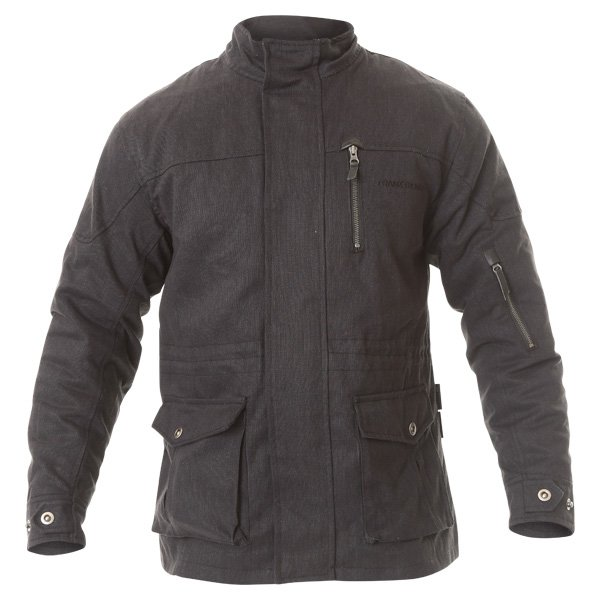 Frank Thomas City Mens Black Textile Motorcycle Jacket Front