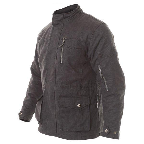 Frank Thomas City Mens Black Textile Motorcycle Jacket Side