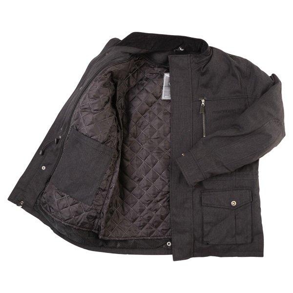 Frank Thomas City Mens Black Textile Motorcycle Jacket Inside