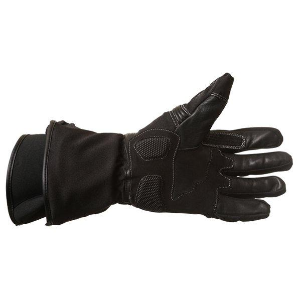 BKS Heaton Black Motorcycle Gloves Palm