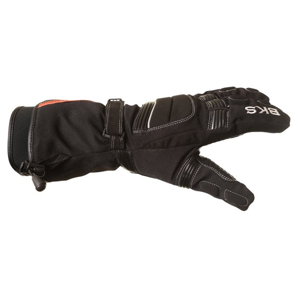 BKS Heaton Black Motorcycle Gloves Thumb side