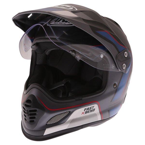 Arai Tour-X4 Vision Grey Adventure Motorcycle Helmet Open Visor