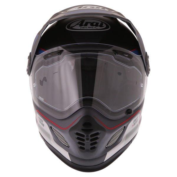 Arai Tour-X4 Vision Grey Adventure Motorcycle Helmet Front