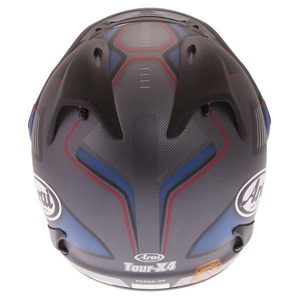 Arai Tour-X4 Vision Grey Adventure Motorcycle Helmet Back