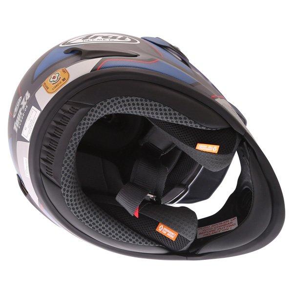 Arai Tour-X4 Vision Grey Adventure Motorcycle Helmet Inside