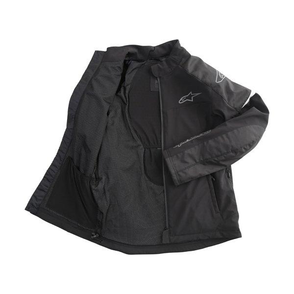 Alpinestars Zephyr DS Mens Black Textile Motorcycle Jacket Inside