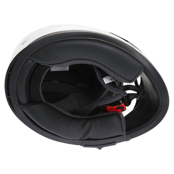 Frank Thomas FT36SV Retro White Black Full Face Motorcycle Helmet Inside