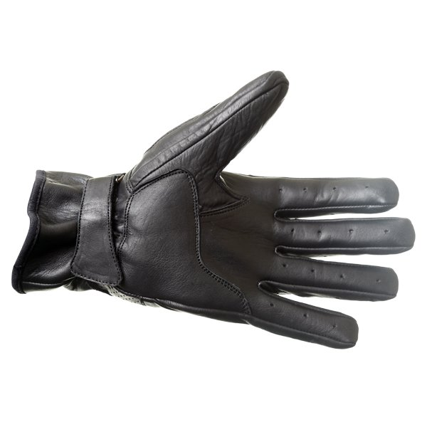 Frank Thomas Modica Black Motorcycle Gloves Palm