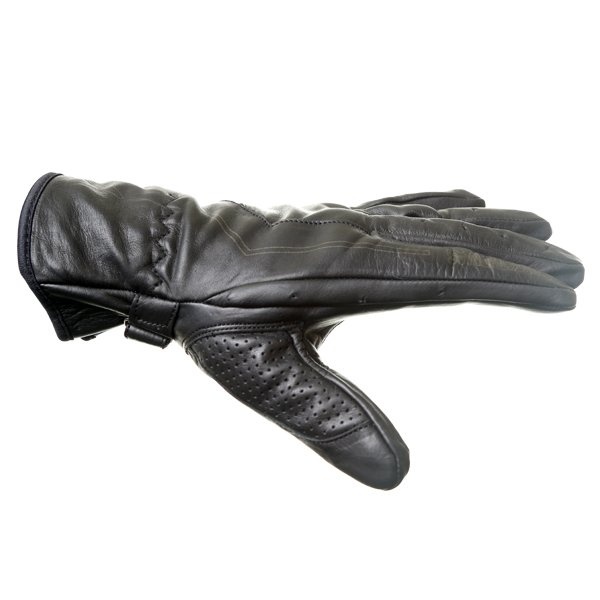 Frank Thomas Modica Black Motorcycle Gloves Thumb side