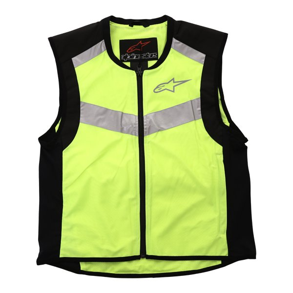 Alpinestars Flare Hi Vis Black Fluo Yellow Vest Front