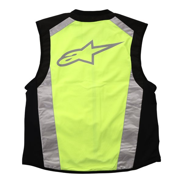 Alpinestars Flare Hi Vis Black Fluo Yellow Vest Back