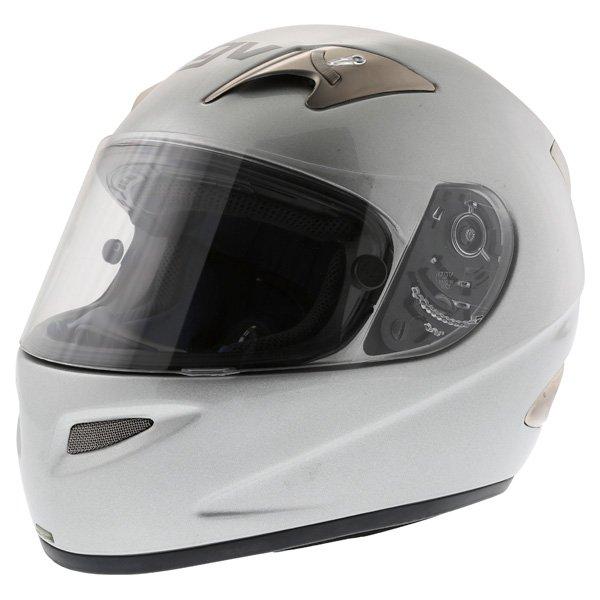 AGV TI Tech Silver Helmet Front Left
