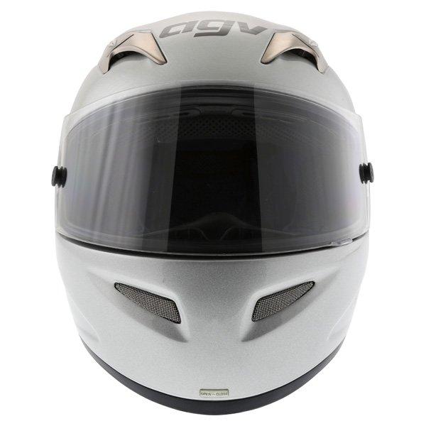 AGV TI Tech Silver Helmet Front
