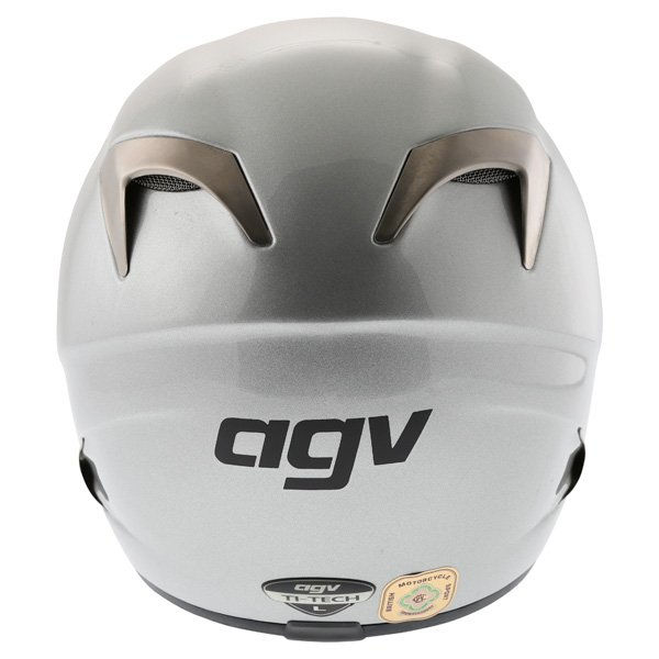 AGV TI Tech Silver Helmet Back