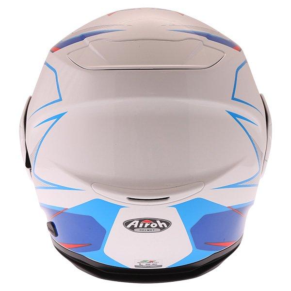 Airoh Rev Flip Up White Red Blue Flip Front Motorcycle Helmet Back