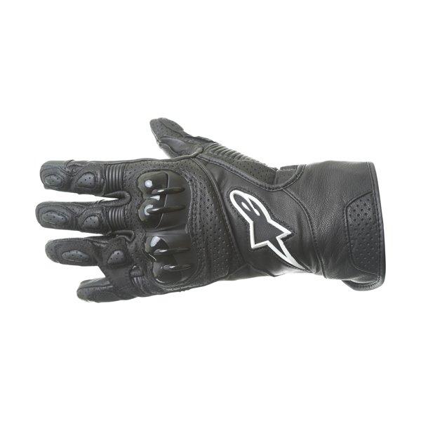 Alpinestars SP-2 V2 Black Motorcycle Gloves Back