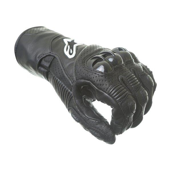 Alpinestars SP-2 V2 Black Motorcycle Gloves Knuckle