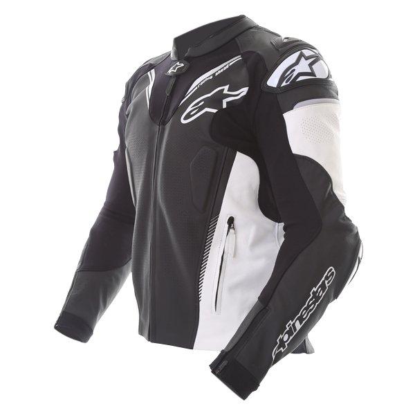 Alpinestars Atem V3 Black White Leather Motorcycle Jacket Side