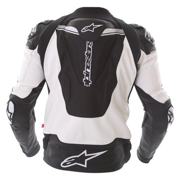 Alpinestars Atem V3 Black White Leather Motorcycle Jacket Back