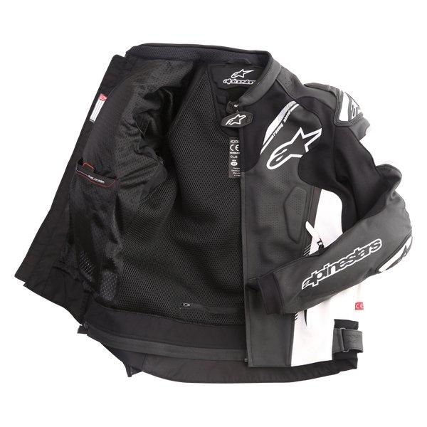 Alpinestars Atem V3 Black White Leather Motorcycle Jacket Inside