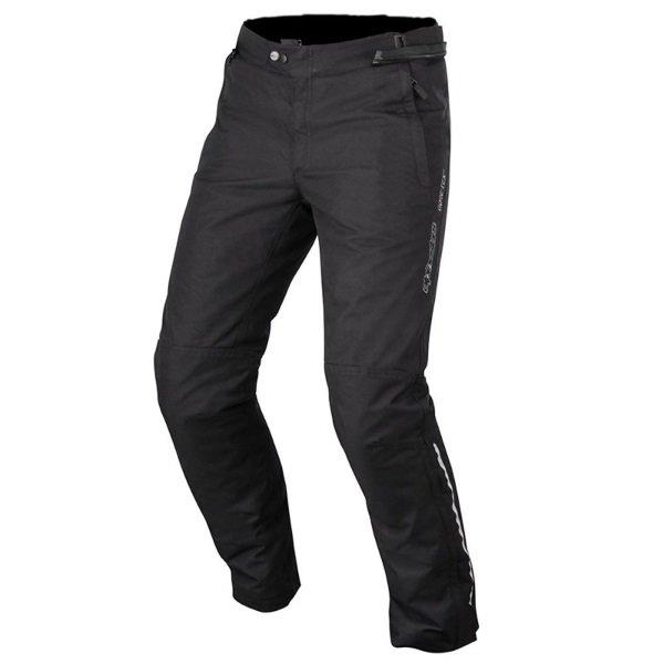 Alpinestars Patron Gore-Tex Black Waterproof Motorcycle Pants Front
