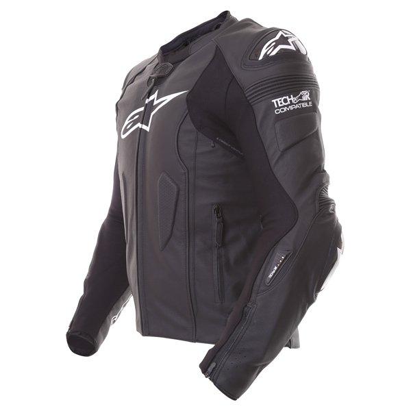 Alpinestars Missile Tech Air Black Leather Motorcycle Jacket Side