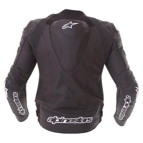 Alpinestars Missile Tech Air Black Leather Motorcycle Jacket Back
