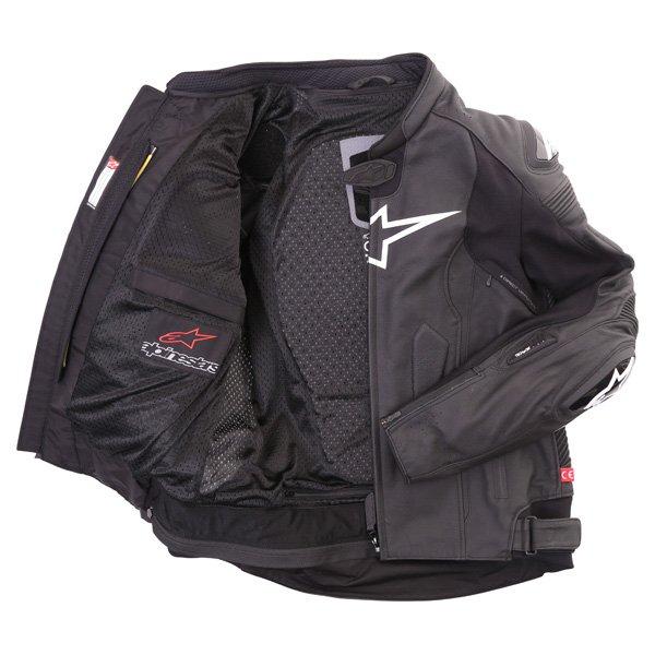 Alpinestars Missile Tech Air Black Leather Motorcycle Jacket Inside