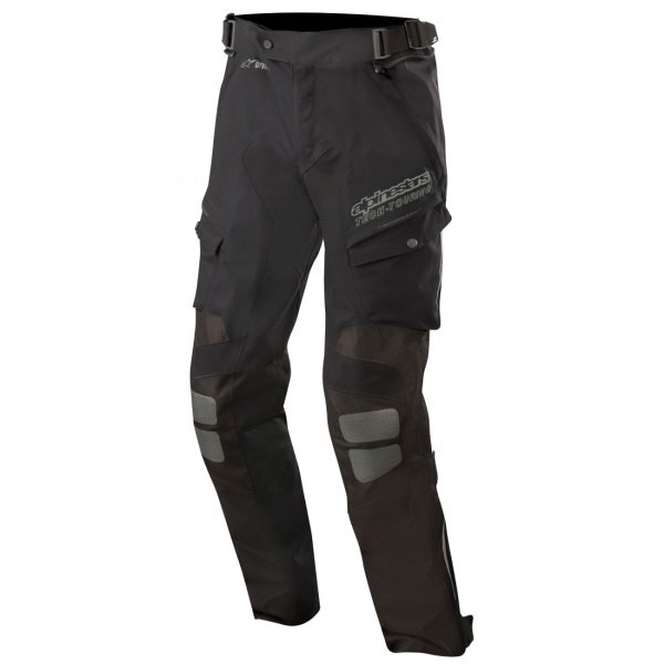 Alpinestars Yaguara Drystar Tech Air Black Anthractice Textile Motorcycle Pants Front