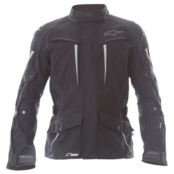 Alpinestars Yaguara Drystar Tech Air Black Anthractice Textile Waterproof Motorcycle Jacket Front