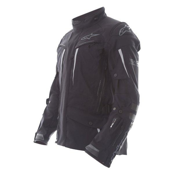 Alpinestars Yaguara Drystar Tech Air Black Anthractice Textile Waterproof Motorcycle Jacket Side