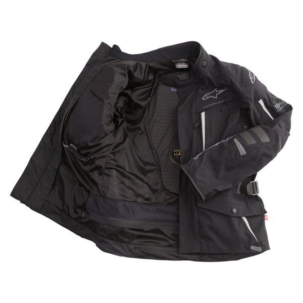 Alpinestars Yaguara Drystar Tech Air Black Anthractice Textile Waterproof Motorcycle Jacket Inside