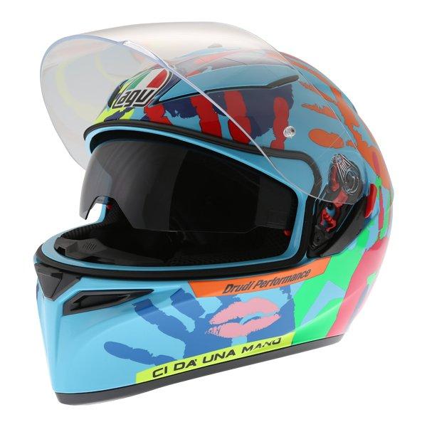 AGV K3 SV Misano 2014 Full Face Motorcycle Helmet Open With Sun Visor