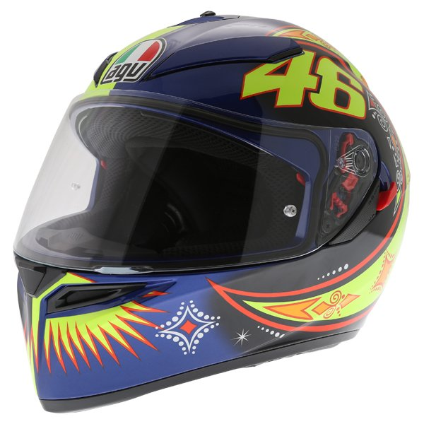 AGV K3 SV Rossi 2002 Full Face Motorcycle Helmet Front Left