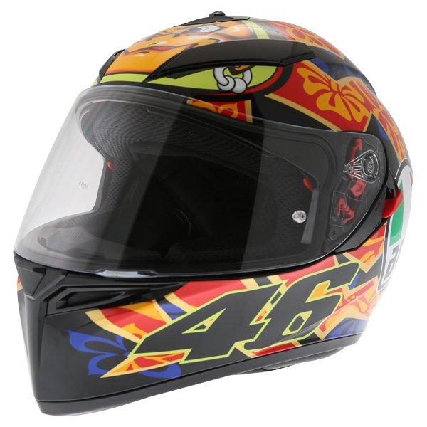 AGV K3 SV Mugello 2001 Black Full Face Motorcycle Helmet Front Left