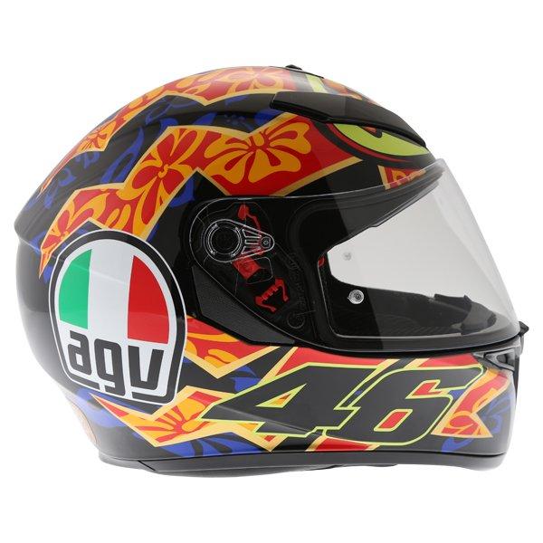 AGV K3 SV Mugello 2001 Black Full Face Motorcycle Helmet Right Side