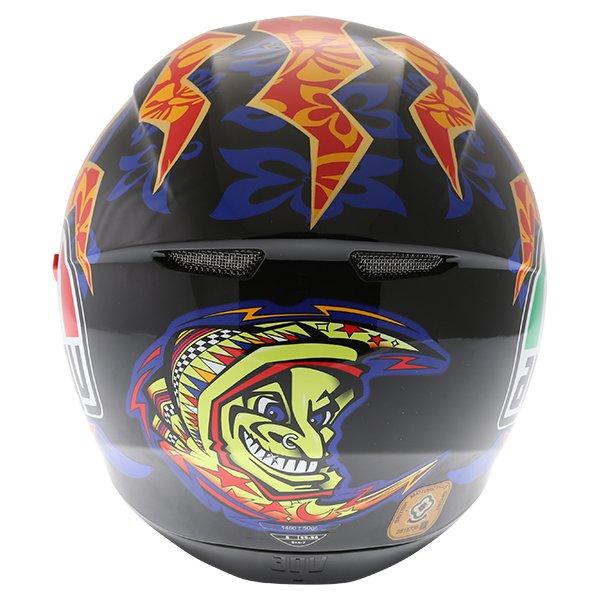 AGV K3 SV Mugello 2001 Black Full Face Motorcycle Helmet Back