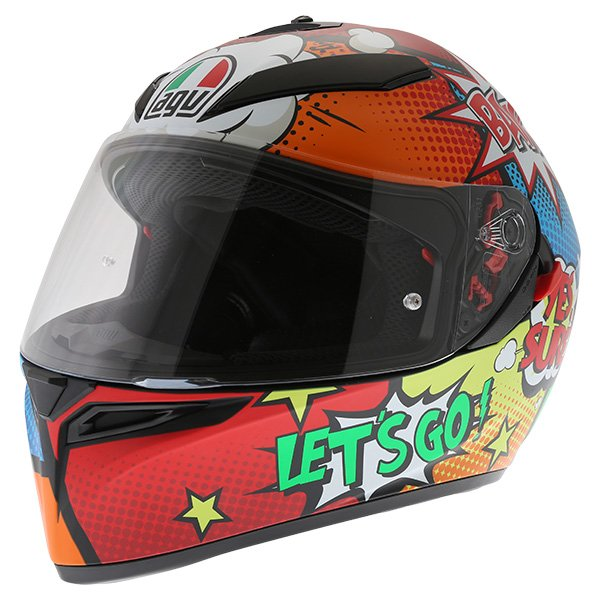 AGV K3 SV Balloon Full Face Motorcycle Helmet Front Left