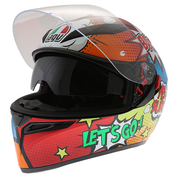 AGV K3 SV Balloon Full Face Motorcycle Helmet Open With Sun Visor
