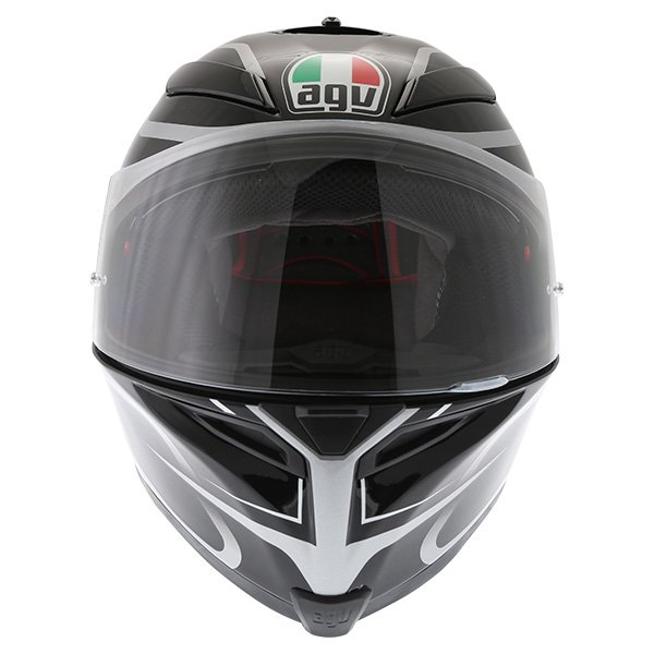 AGV K5-S Magnitude Black Silver Full Face Motorcycle Helmet Front