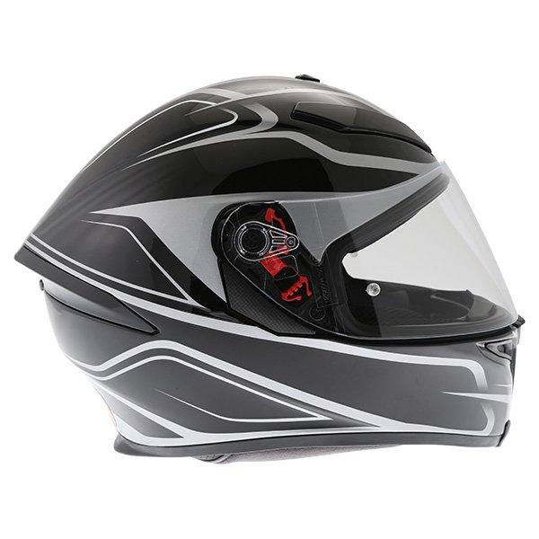 AGV K5-S Magnitude Black Silver Full Face Motorcycle Helmet Right Side