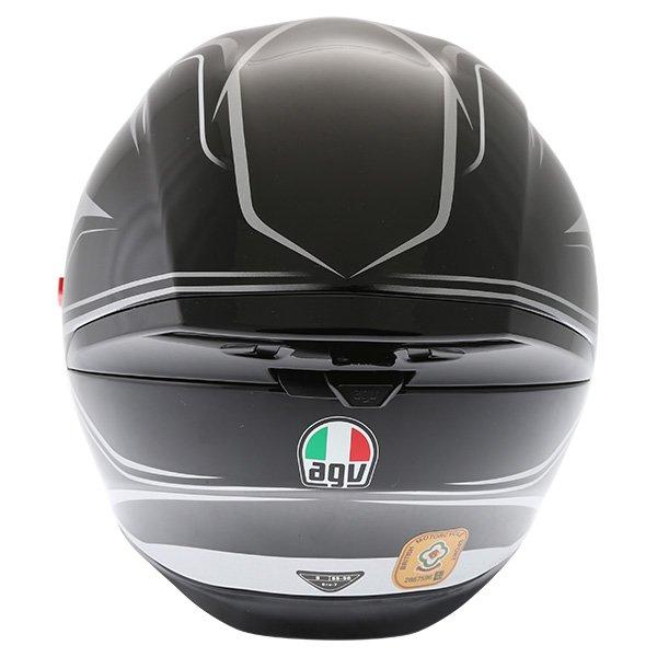 AGV K5-S Magnitude Black Silver Full Face Motorcycle Helmet Back