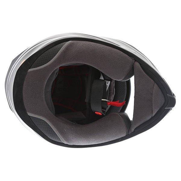 AGV K5-S Magnitude Black Silver Full Face Motorcycle Helmet Inside