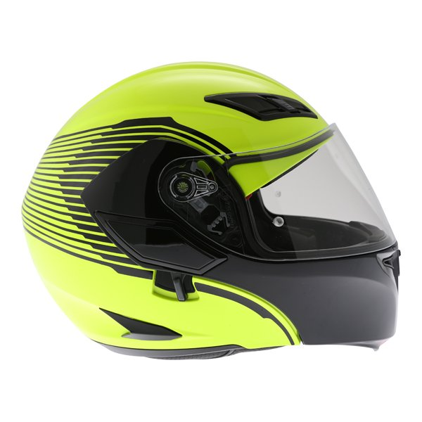 AGV Compact-ST Vermont Flo Yellow Black Flip Front Motorcycle Helmet Right side