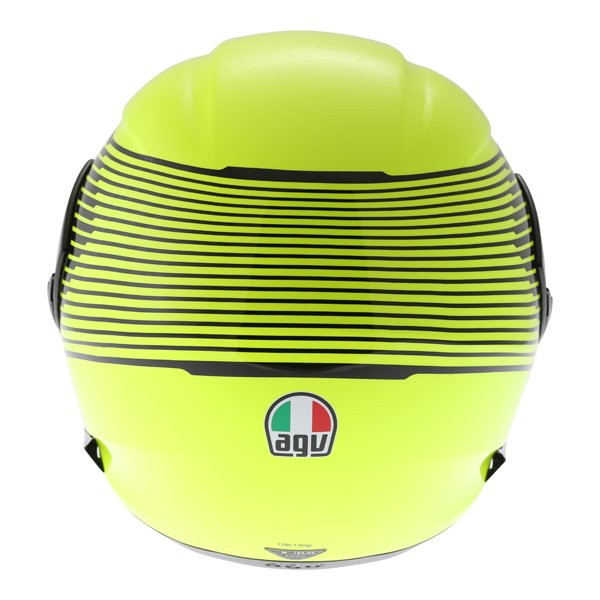 AGV Compact-ST Vermont Flo Yellow Black Flip Front Motorcycle Helmet Back
