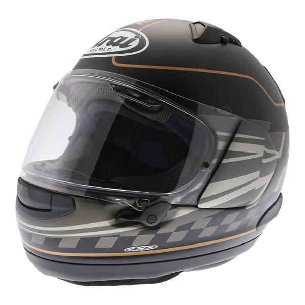 Arai QV Dark Citizen Full Face Motorcycle Helmet Front Left