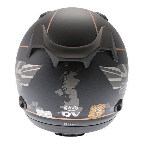 Arai QV Dark Citizen Full Face Motorcycle Helmet Back