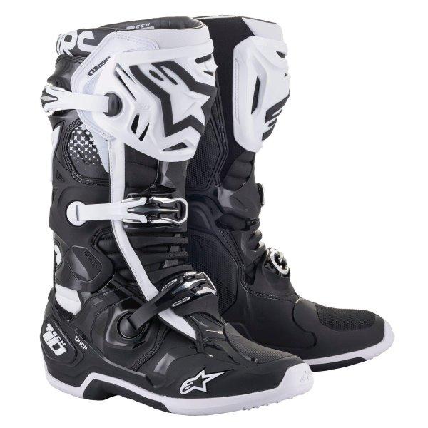 Tech 10 Boots Black White Motocross Boots
