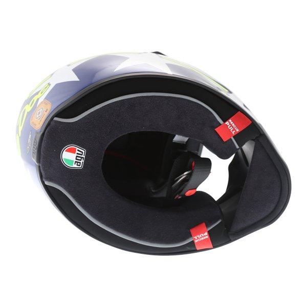 AGV Veloce S Ranch Full Face Motorcycle Helmet Inside