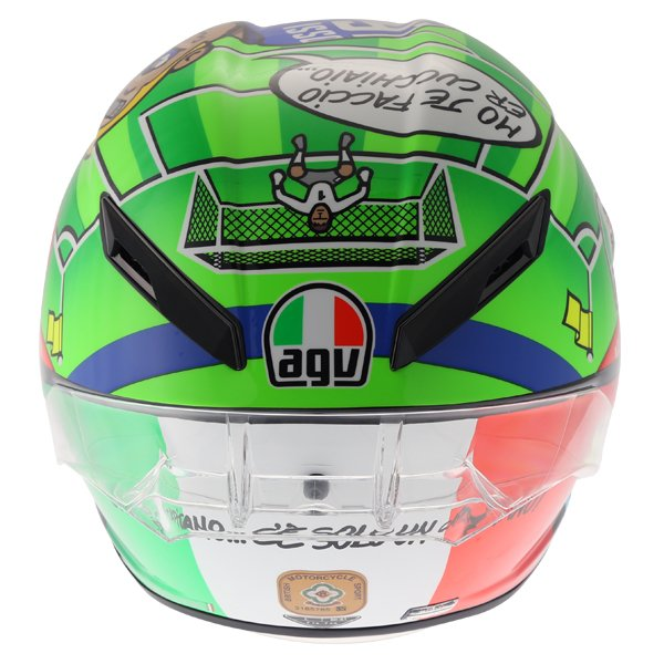 AGV Pista GP-R Rossi Mugello 2017 Ltd Full Face Motorcycle Helmet Back
